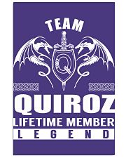 Team QUIROZ Lifetime Member - Name Shirts 11x17 Poster thumbnail