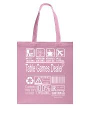 Table Games Dealer Tote Bag thumbnail