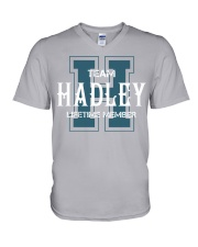 Team HADLEY - Lifetime Member V-Neck T-Shirt tile