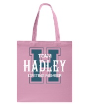 Team HADLEY - Lifetime Member Tote Bag tile
