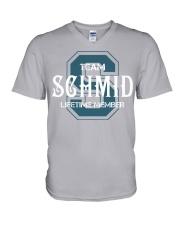 Team SCHMID - Lifetime Member V-Neck T-Shirt thumbnail