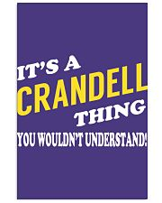 Its a CRANDELL Thing - Name Shirts Vertical Poster tile
