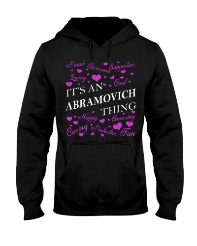 Its an ABRAMOVICH Thing - Name Shirts