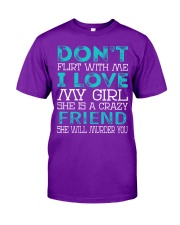 Friend - Dont Flirt Job Title Classic T-Shirt thumbnail