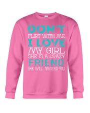 Friend - Dont Flirt Job Title Crewneck Sweatshirt thumbnail