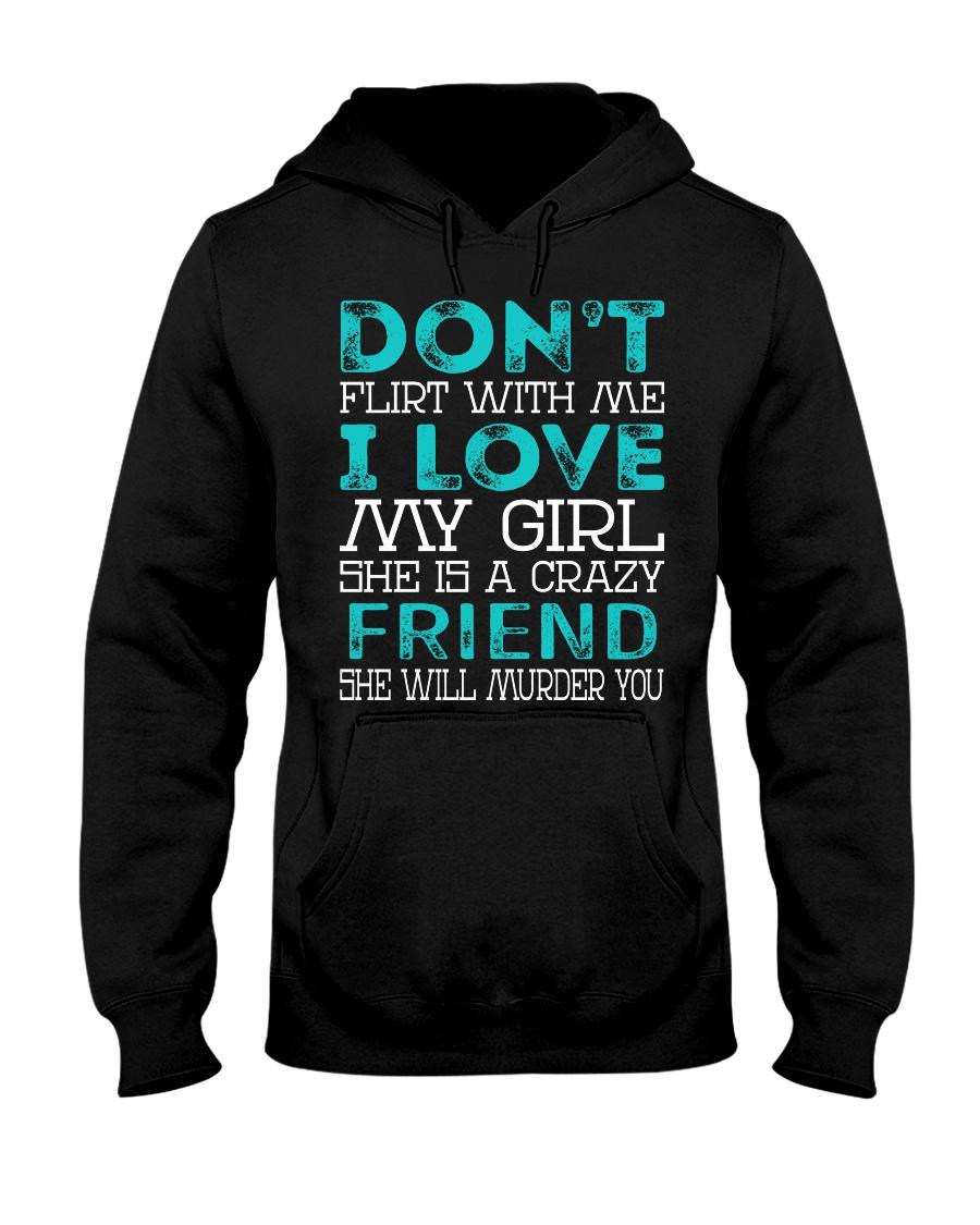Friend - Dont Flirt Job Title Hooded Sweatshirt