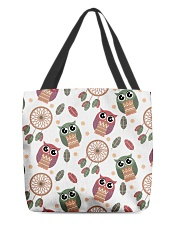 Happy Dreams with Owls All-over Tote front