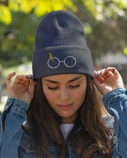 Embroidery Glasses Knit Beanie garment-embroidery-beanie-lifestyle-07