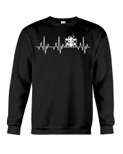 Heartbeat Drummer Drums Drumsticks Drumming funny  Crewneck Sweatshirt tile