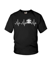 Heartbeat Drummer Drums Drumsticks Drumming funny  Youth T-Shirt thumbnail