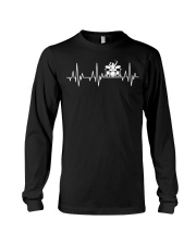 Heartbeat Drummer Drums Drumsticks Drumming funny  Long Sleeve Tee thumbnail