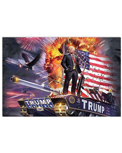 Trump Tank Poster Keep America Great