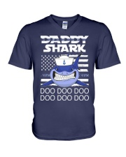 Sailor shark V-Neck T-Shirt thumbnail