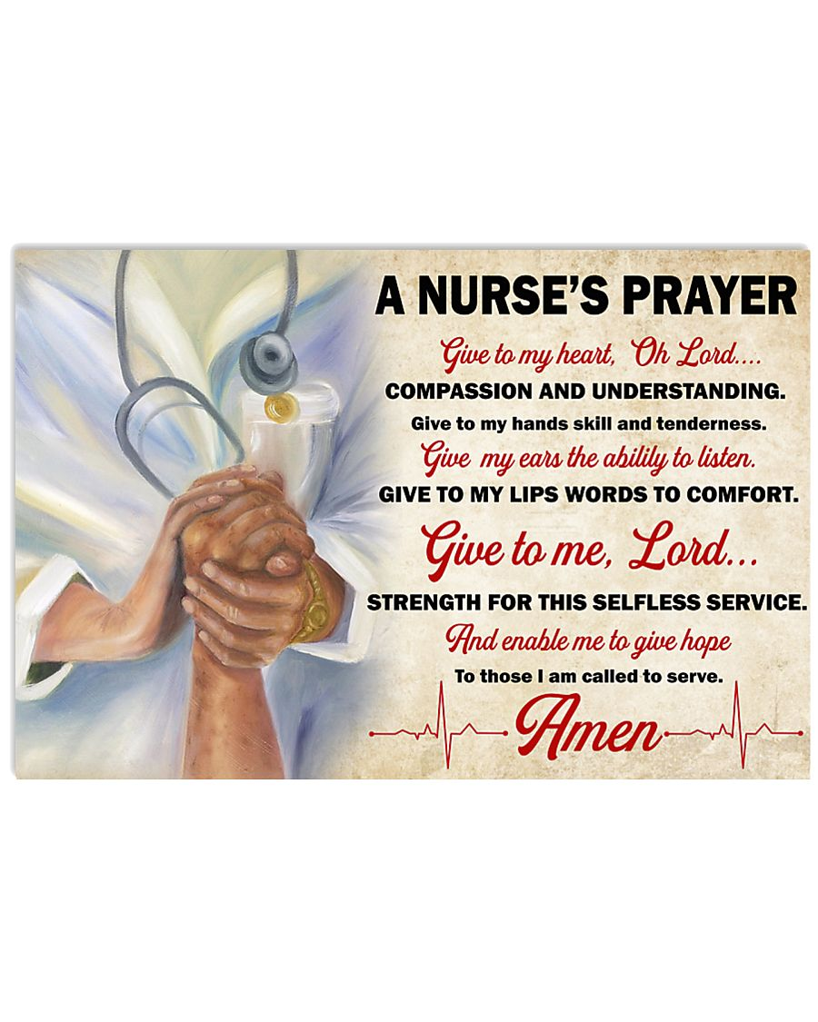A Nurse's Prayer 36x24 Poster