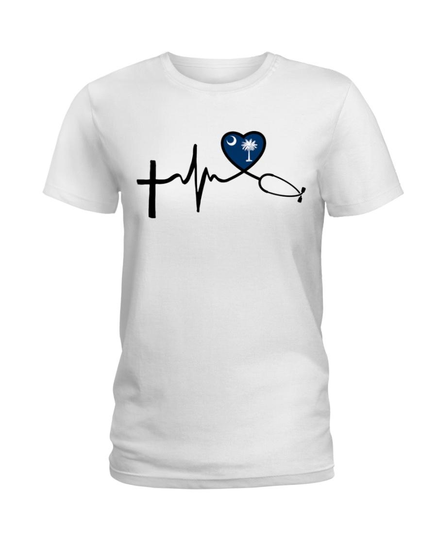 Faith Live Love South Carolina Nurse Ladies T-Shirt