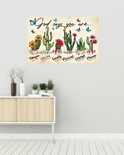 Cactus God says you are 36x24 Poster poster-landscape-36x24-lifestyle-01