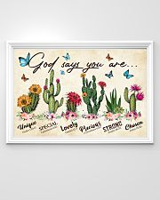 Cactus God says you are 36x24 Poster poster-landscape-36x24-lifestyle-02