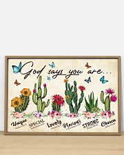 Cactus God says you are 36x24 Poster poster-landscape-36x24-lifestyle-03