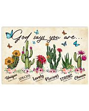 Cactus God says you are Horizontal Poster tile