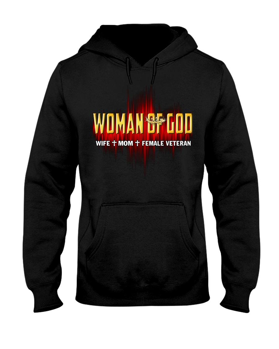 Veteran Woman  Hooded Sweatshirt