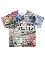 Artist All-over T-Shirt front