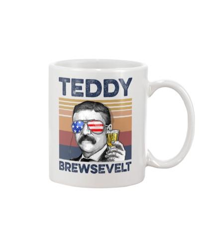 DrinkMugWhite Teddy Brewsevelt