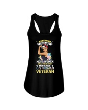 Veteran Woman Ladies Flowy Tank thumbnail