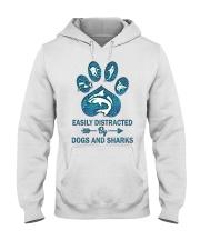 Dog Shark Hooded Sweatshirt front