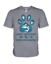 Dog Shark V-Neck T-Shirt thumbnail