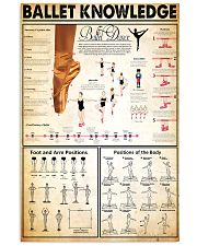 Ballet Knowledge 24x36 Poster front