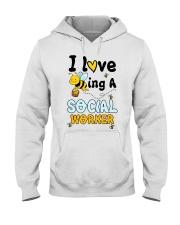 Social worker Beeing Hooded Sweatshirt front