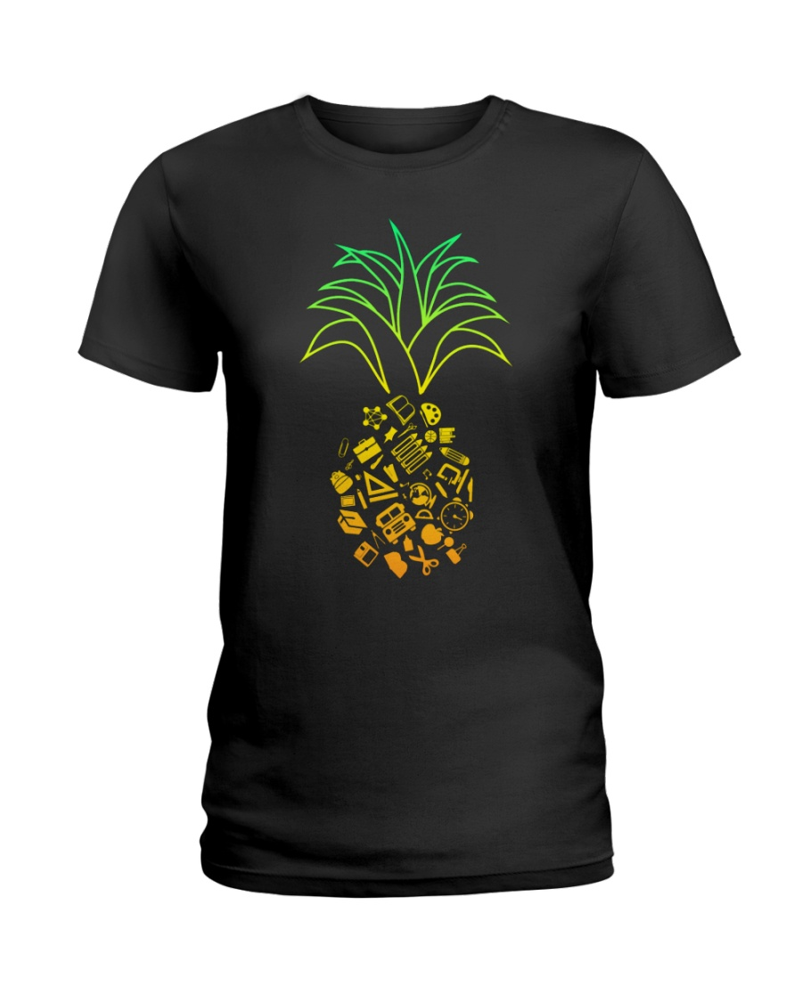 TEACHER PINEAPPLE Ladies T-Shirt