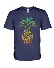 TEACHER PINEAPPLE V-Neck T-Shirt thumbnail