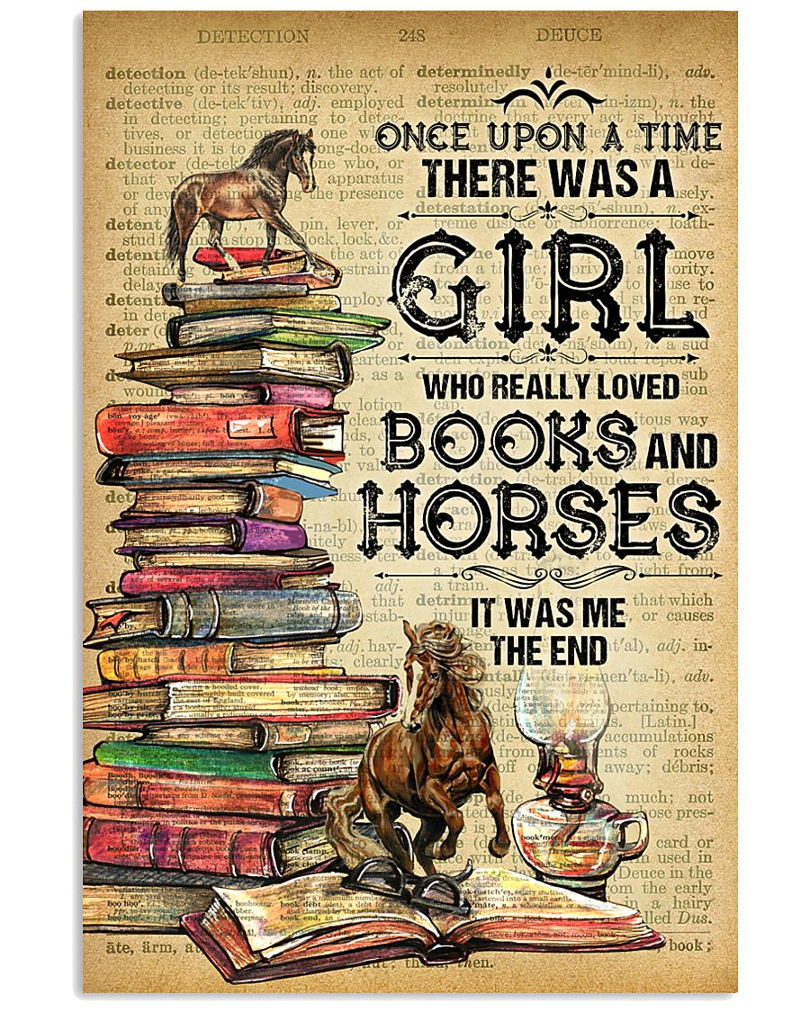 Horse And Book  11x17 Poster