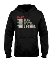 Papa The Man The Myth The Legend Retro Hooded Sweatshirt thumbnail