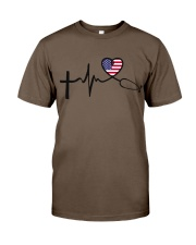 Faith Hope Love Nurse USa Classic T-Shirt thumbnail