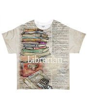 Librarian Limited All-over T-Shirt front