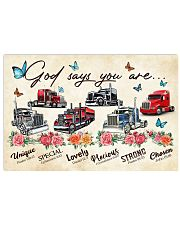 Trucker God says you are 36x24 Poster front