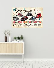 Trucker God says you are 36x24 Poster poster-landscape-36x24-lifestyle-01