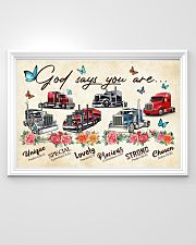 Trucker God says you are 36x24 Poster poster-landscape-36x24-lifestyle-02