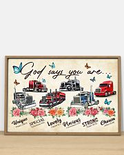 Trucker God says you are 36x24 Poster poster-landscape-36x24-lifestyle-03