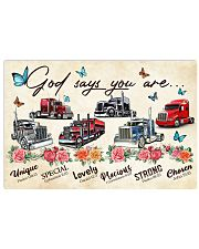 Trucker God says you are Horizontal Poster tile