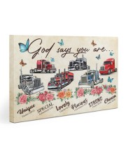 Trucker God says you are 30x20 Gallery Wrapped Canvas Prints thumbnail