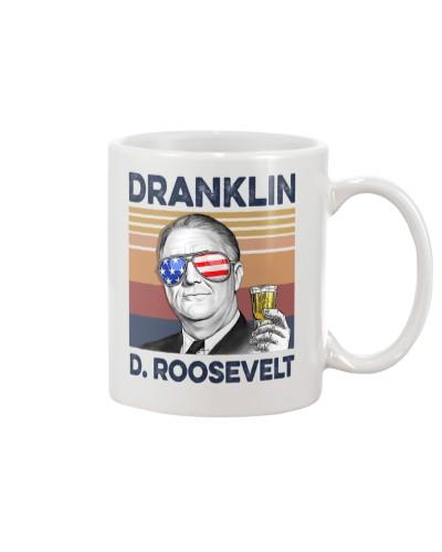 DrinkMugWhite Dranklin D Roosevelt