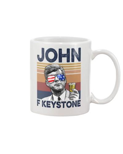 DrinkMugWhite John F Keystone