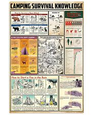 Camping Survival Knowledge 24x36 Poster front