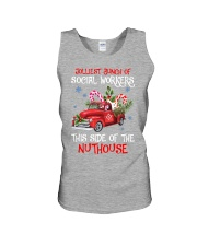 Social worker This side of the nuthouse Unisex Tank front