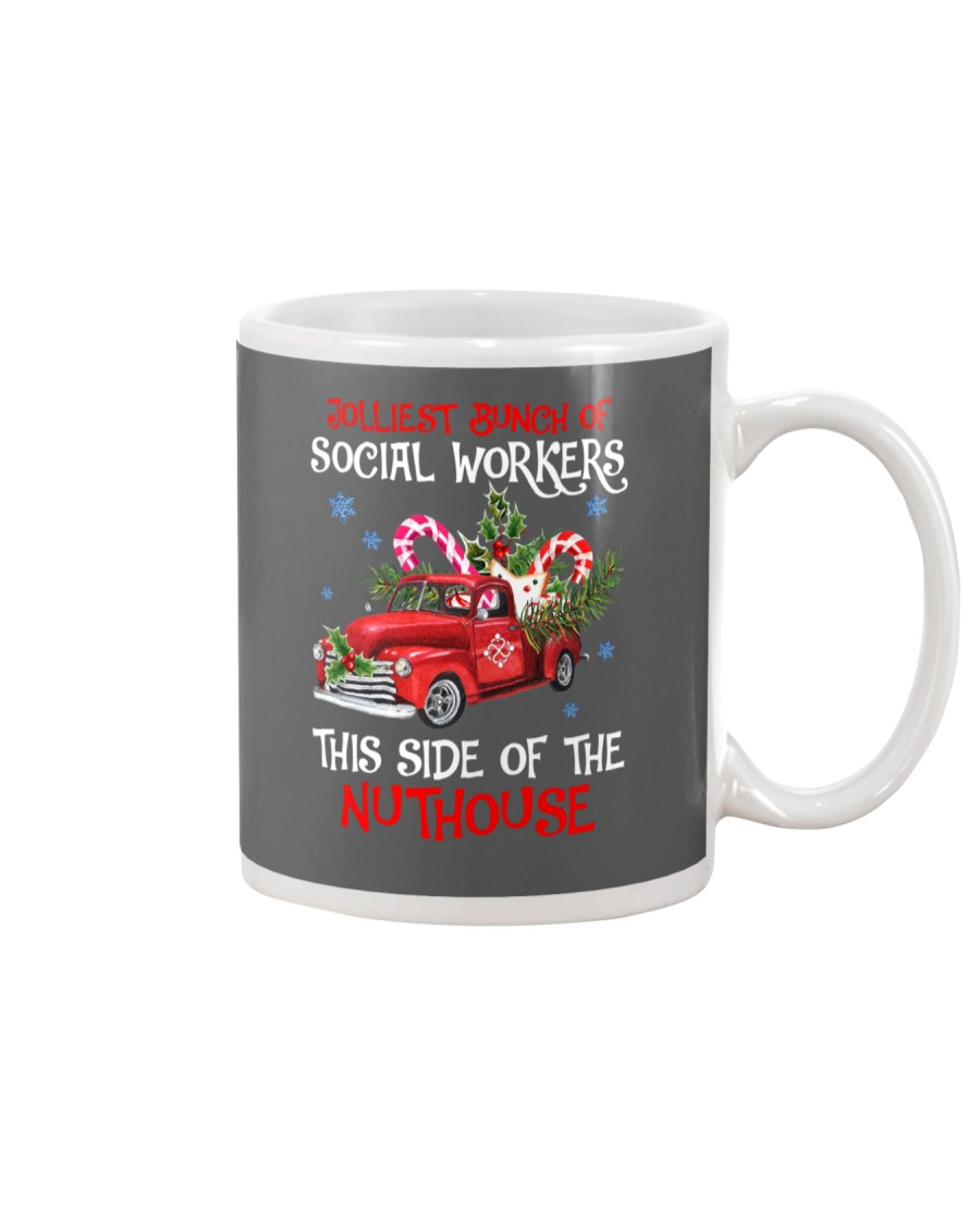 Social worker This side of the nuthouse Mug
