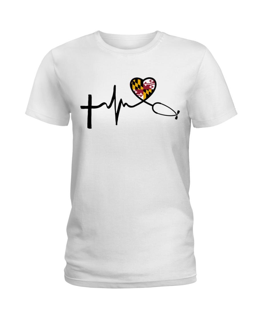 Faith Love Live Maryland Nurse Ladies T-Shirt