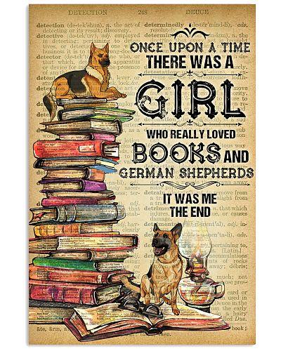 German Shepherd And Book